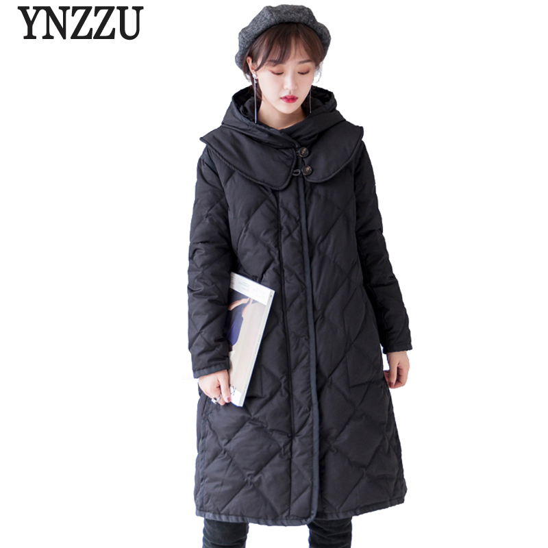Brand 2018 New Winter Women Long   Down   Jackets Vintage Duck   Down     Coats   with Hooded High Quality Windproof Woman Winter   Coat   AO710