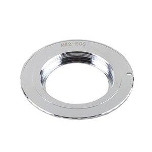 Image 4 - Кольцо для крепления объектива Foleto M42 для canon M42 EOS Mount с чипом 3,0 500D 600D 40d 50D 60D 5D2, черное/серебристое