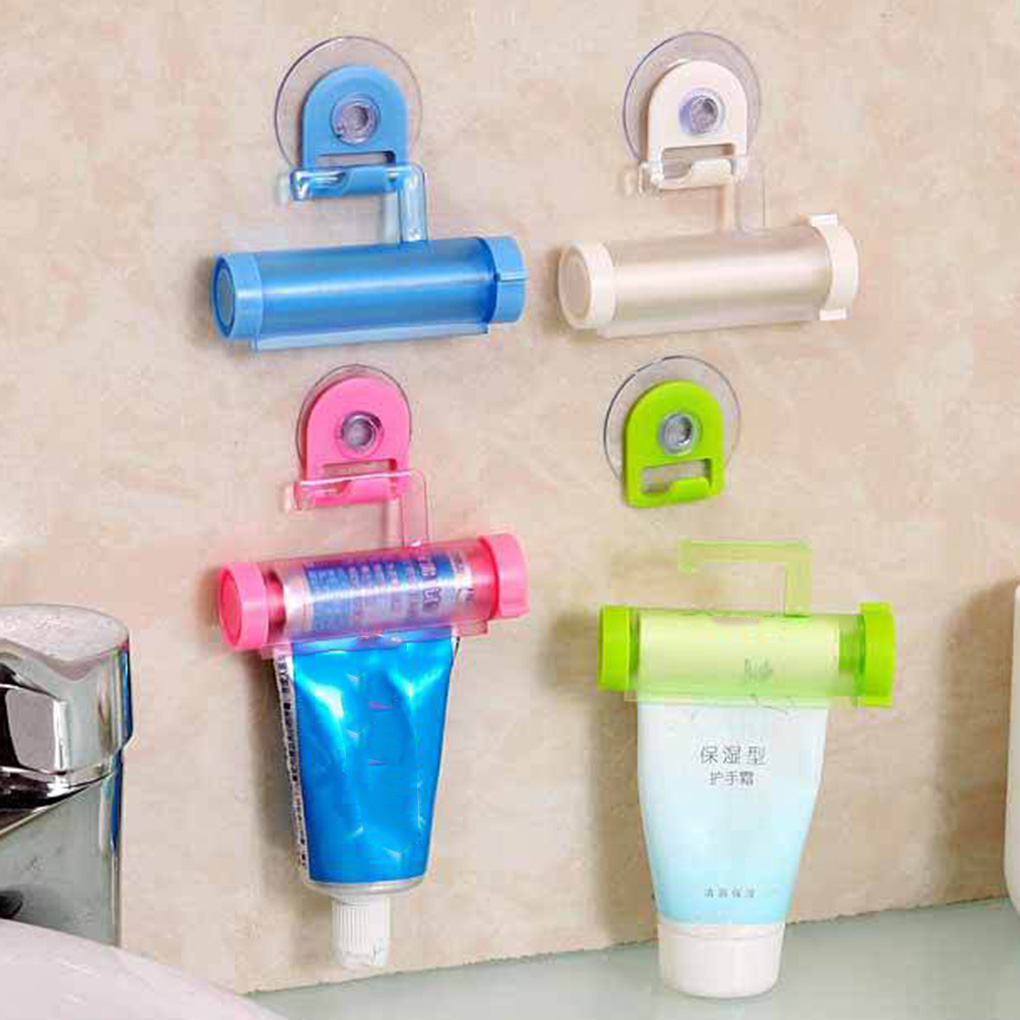 New Lovely Multi-Functional Toothpaste Squeezer Hanging Plastic Rolling Tube Manual Squeezer Toothpaste Dispenser New