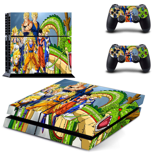 Dragon Ball Vinyl For PS4 Sticker Skin For Playstation 4+ 2Pcs Controller Skin Console Stickers For PS4 Console Protective Skin 1