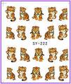 1X наклейки на мультфильм тигр вода трансферы наклейки ногтей наклейки вода наклейка Opp рукав упаковка SY222