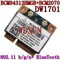 Broadcom mini-bcm94313hmgb BCM2070 BCM4313 DW1701 YFHN7 metade Mini PCI Express BT Bluetooth sem fio WLAN cartão