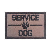 2017 New SERVICE DOG ASK TO PET Patch for Pet Dog Cat Fans Awesome Tactical Patch for Jacket Biker Jeans Backpack Cap Armband(China)