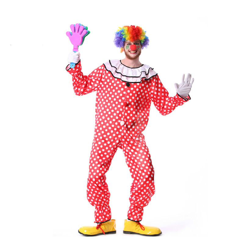 160-180cm Adult Men Clown Cosplay Costumes Stage Party Performance Clothes Magic Performance Clown Clothes