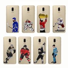 Sport Ice Hockey Sidney Crosby Cartoon Soft Silicon Phone Cases Cover Capinha Coque for Samsung J6 J7 Plus J8 2018 J3 J4
