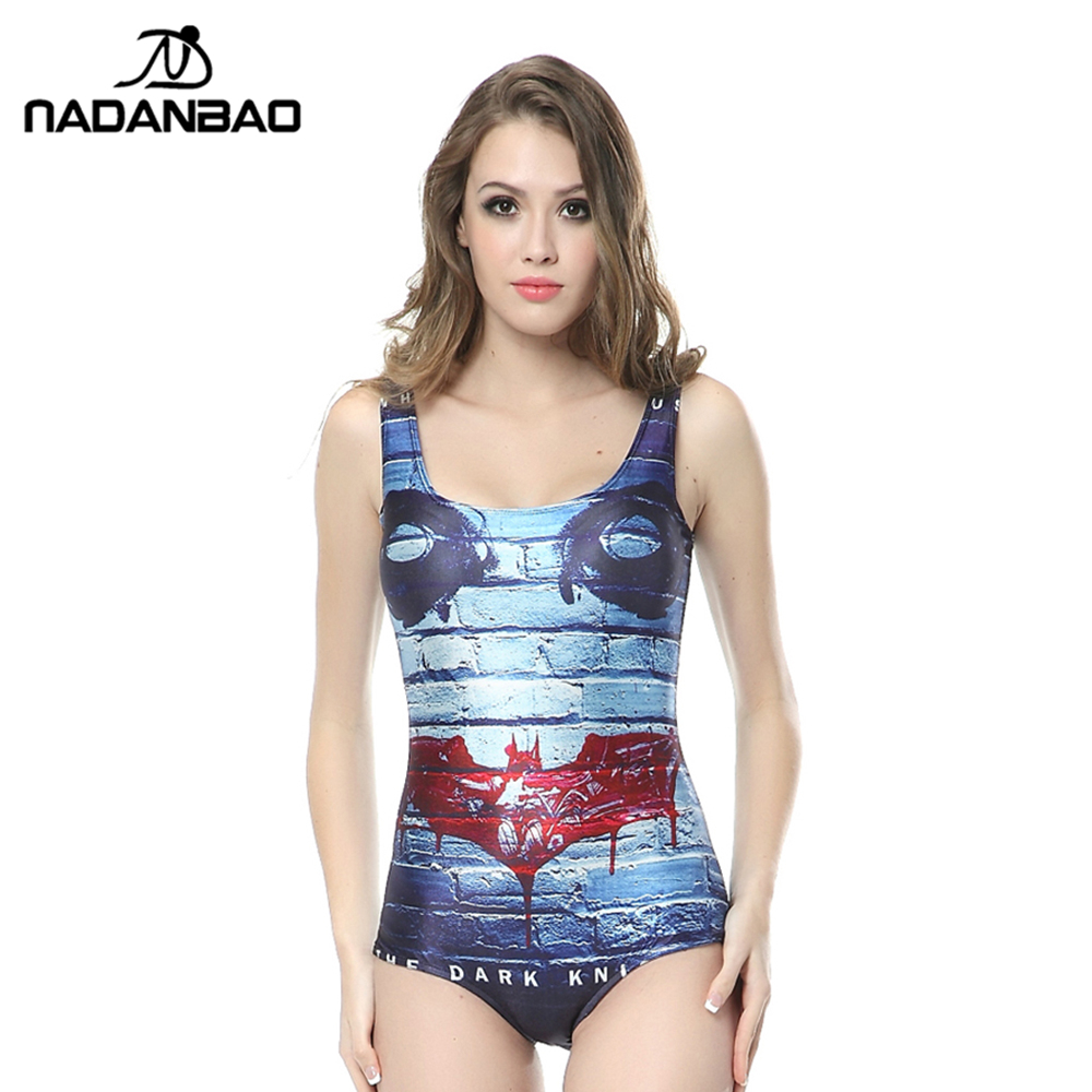 New Arrival Sexy Beach Wear The Dark Knight  Digital Printed Women Swimsuit Sleeveless One Piece Swimwear Bathing Suit CYQ1106