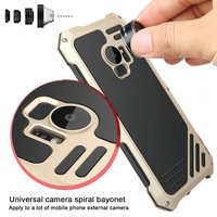 for Samsung Galaxy s9 s9 Plus Case with Fisheye wide angle macro lens Daily Life Waterproof Dustproof Anti knock Cover s9+