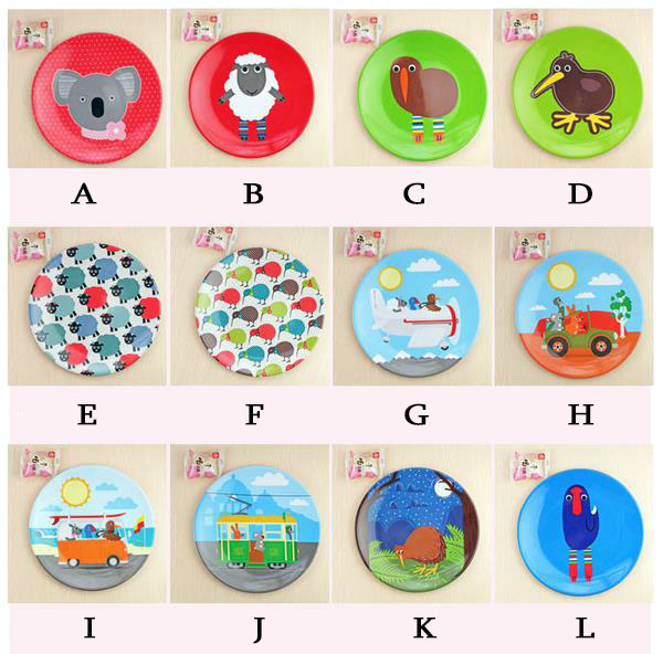 4pc Melamine dinnerware set round plates cartoon animal buffet tray dessert salad sushi plastic dining dishs kids party decor-in Dinnerware Sets from Home ...  sc 1 st  AliExpress.com & 4pc Melamine dinnerware set round plates cartoon animal buffet tray ...