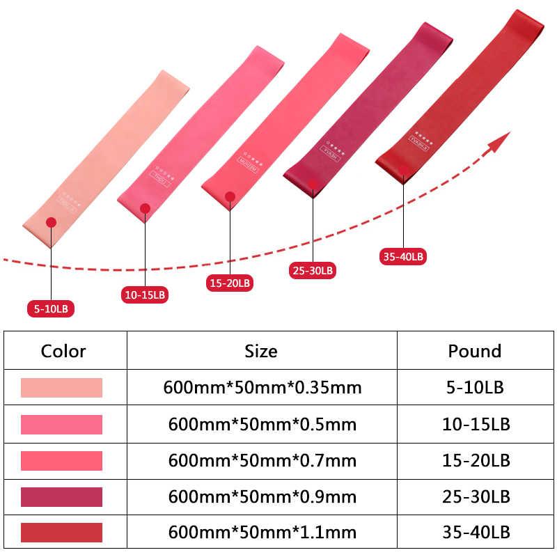 Zespoły oporu Fitness gumy ćwiczeń gradientu kolor sport elastyczna opaska trening siłowy sportowe gumowa pętla treningu Expander
