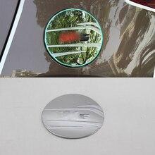 Car Accessories Exterior ABS Chrome Oil Fuel Gas Tank Cap Cover Pad Sticker Trim 1pc For Kia KX5/Sportage 2016 Styling