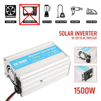 Vehemo 1500W Automobile Car Power Inverter Converter Transformer 50 60Hz DC 12V To AC 110V 220V