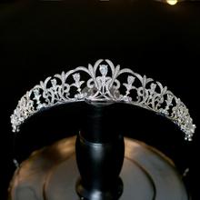 Luxury Tiara de Noiva Crystal Birdal Crown Queen Vintage Wedding Tiaras Headpiece Hair Accessories