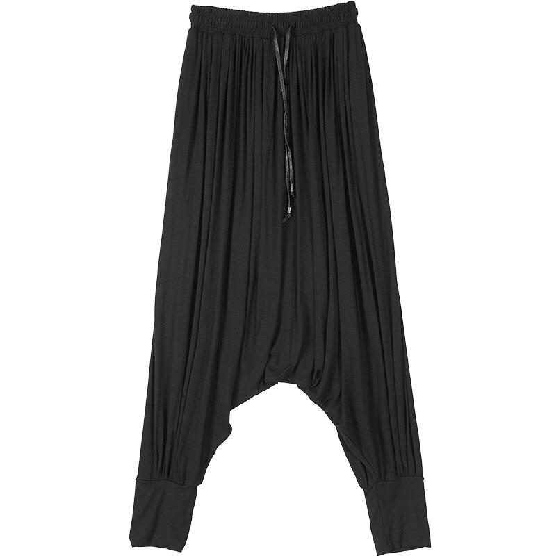 Ropa Personalidad Entrepierna Pantalones ¡ La Marea Masculina Falda Ocio Estilista Harén Sueltos Bajo Nuevo Ocasional fxq5Haw57