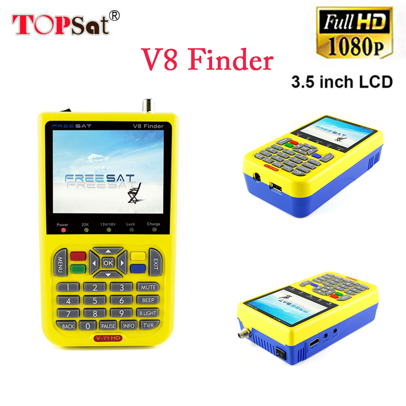 Digital satellite finder FREESAT V8 finder DVB-S/S2 with 3.5 inch LCD better than satlink ws-6933 ws-6906 satlink ws-6950 satlink ws 6906 dvb s fta digital satellite signal meter satellite finder supports diseqc 1 0 1 2 qpsk
