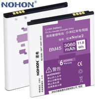100 Original NOHON Li Ion Battery 3060mAh BM45 For Xiaomi RedMi Hongmi Note2 Red Rice Note