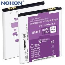 100% Оригинальные nohon литий-ионный Батарея 3060 мАч BM45 для Xiaomi Hongmi Redmi Note2 красный рис Примечание 2 высокое Ёмкость Замена Bateria