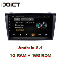 IDOICT Android 8.1 Car DVD Player GPS Navigation Multimedia For Mazda 3 Radio 2004 2013 car stereo wifi