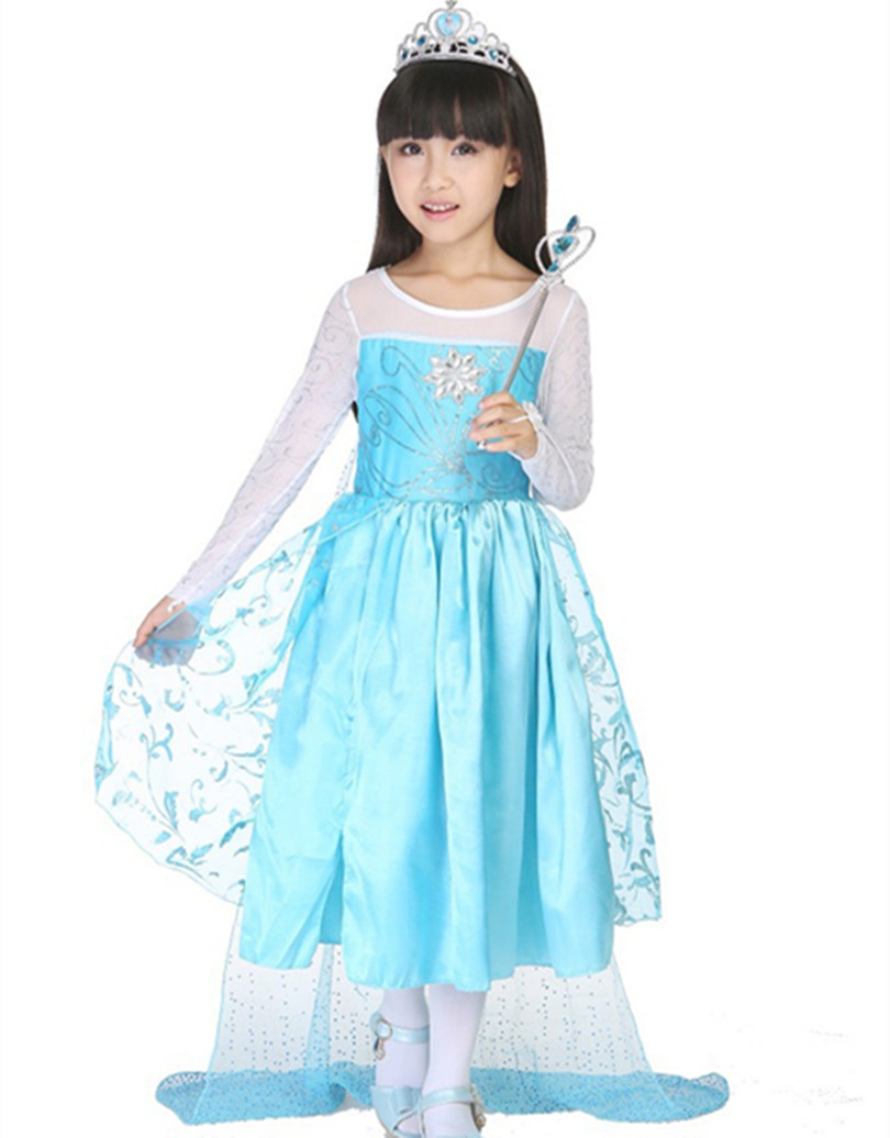 Popular Elsa Anna Princess Dress Kids Costume Party Fancy-Buy ...