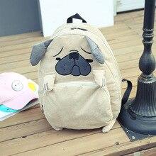 Newlylai Vintage Симпатичные собаки с лисьими ушками вышивка вельвет Женские парусиновые рюкзак школы сумка для ноутбука девочек рюкзак для путешествий Mochila