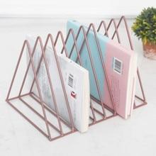 Держатель для газет, подставка для книг, Классическая трехугольная форма, Домашний Органайзер для журналов, офисные канцелярские принадлежности, органайзер, стойка для хранения газет
