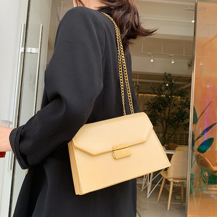 Elegant Female Flap Square Bag 2019 Fashion New Quality PU Leather Women's Designer Handbag Lock Chain Shoulder Messenger Bags