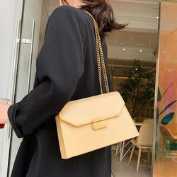 Elegante feminino aleta saco quadrado 2019 moda nova qualidade couro do plutônio designer bolsa de bloqueio corrente ombro mensageiro sacos