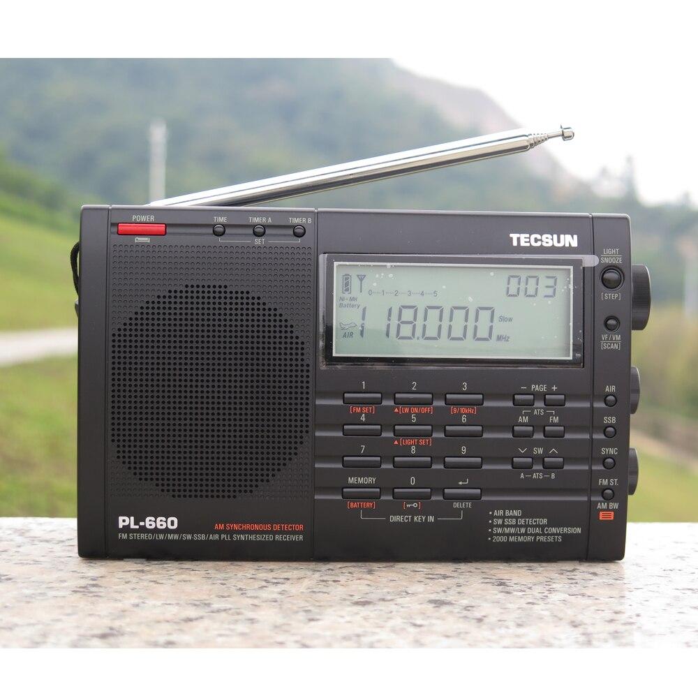 TECSUN PL-660 Radio PLL SSB VHF Zračni prijemnik FM / MW / SW / LW - Prijenosni audio i video - Foto 2