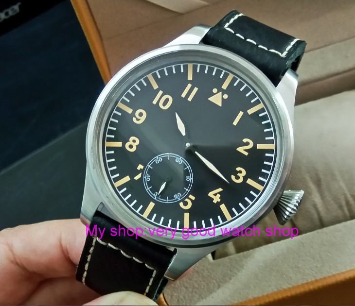 55 mm very big dial PARNIS Asian 6498 Mechanical Hand Wind Mechanical movement men watches Mechanical watches DF355a limited edition watch 50mm big dial parnis men s watch asian 6498 mechanical hand wind pvd black watchcase 84aa