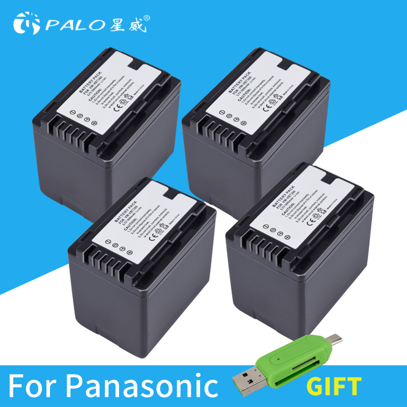 PALO VW-VBT380 VW VBT380 4PC 3.6V/3900mAH Li-ion Camera Battery for Panasonic HC-V180GK HC-V380GK HC-W580GK HC-W580MGK palo 1pc 3900mah vw vbt380 vw vbt190 battery charger plug for panasonic hc v720 hc v727 hc v730 hc v750 hc v757 hc v760 hc v770