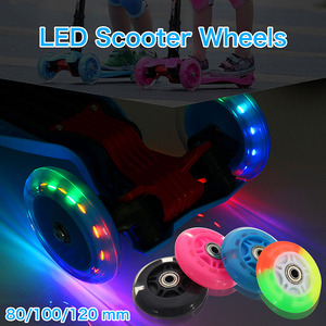 2PCS 80/100/120mm Scooter Whee