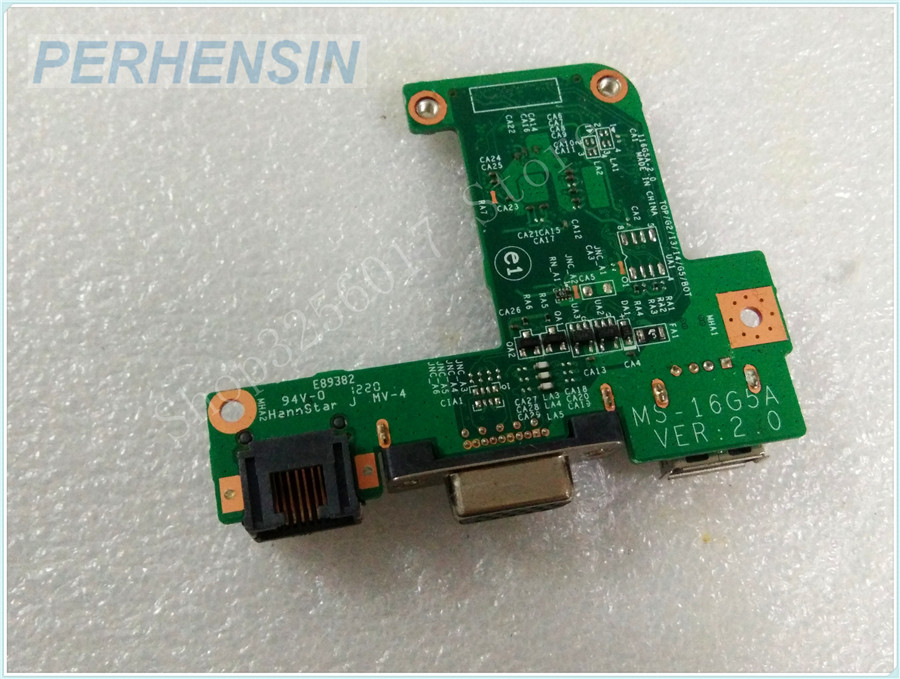 Original Genuine laptop FOR MSI FOR GE620DX MS-16G51 MS-16G5 VGA WLAN USB BOARD MS-16G5A genuine laptop for msi for ms 13581 ms 1358 sd reader usb vga board ms 1358b