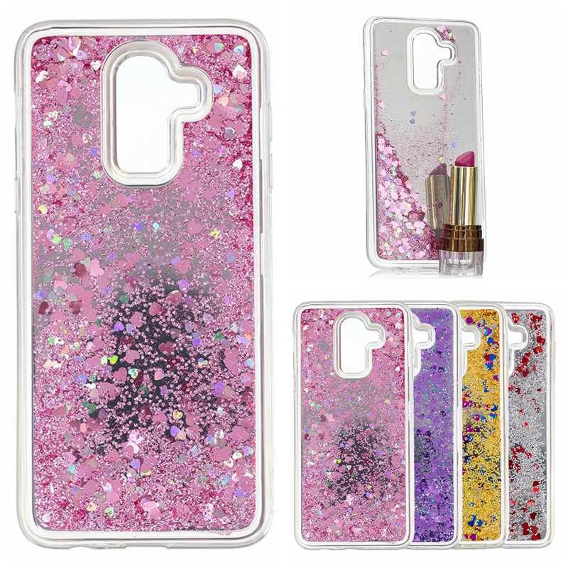 J8 2018 Quicksand Case on For Samsung Galaxy J8 2018 Cover For Samsung J8 2018 SM-J810 Cases Mirror Glitter Dynamic Liquid Cover