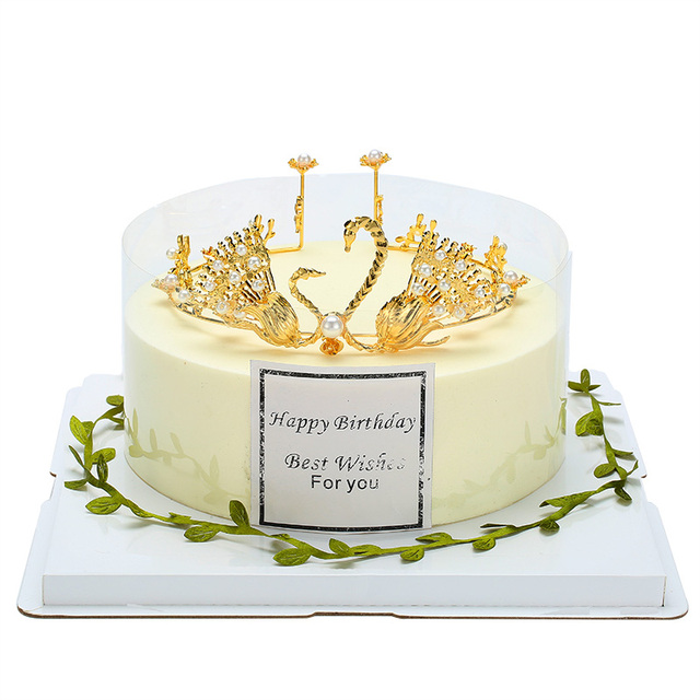 Aliexpress Buy Gold Crown Cake Topper For Kids Gold Princess