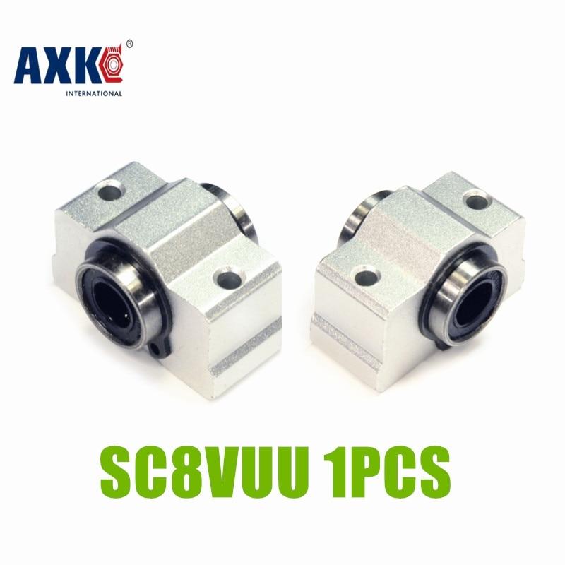 Axk Новый 8 мм втулка подшипника Sc8v Sc8vuu Scv8uu линейный блок для вала|8mm shaft|8mm linear shaftblock block | АлиЭкспресс