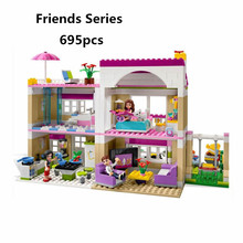 Bela 10164 Compatiable With Legoingly Friends Olivia's House Building Bricks Blocks Toys For Children Girl Game Castle Gift 3315