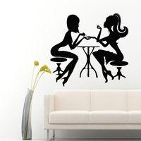 Free Shipping DIY Vinyl Creative Sexy Girls Wall Decal Beauty Design Mural Wall Sticker Nail Shop