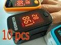 10 pcs ce iso aprobado led dedo oxímetro de pulso de oxígeno arterial spo2 monitor oximetro de saturación oxymetre pulso metros