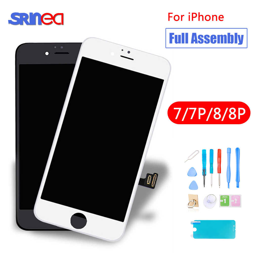 Full Set Assembly LCD Display Digitizer For iPhone 8 Plus 1AAA Quality LCD Touch Screen i Phone 7 Plus 7plus 8plus