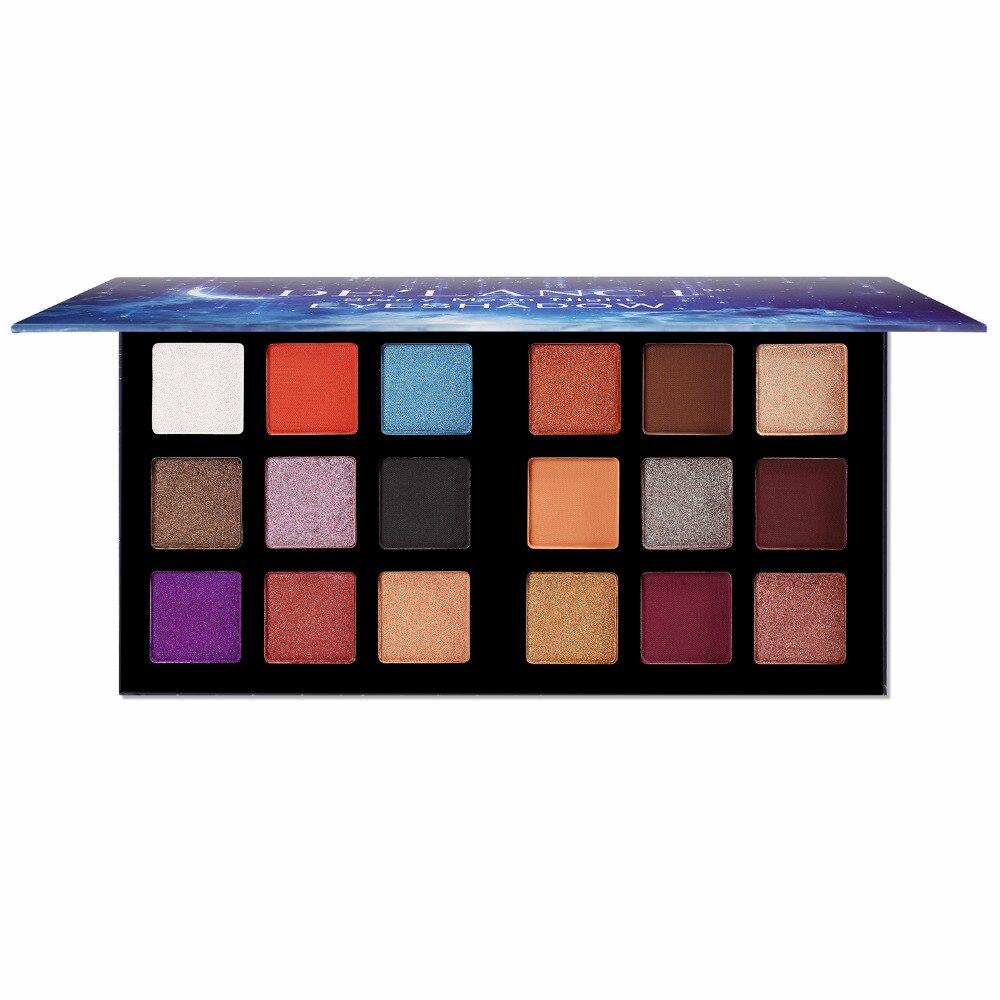 DE'LANCI Fard À Paupières Palette 18 Couleurs Ombre À Paupières Poudre Maquillage Waterproof Très Pigmentée Palette Cosmétiques