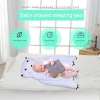 Baby Bed Mattress Adorable Cartoon Style Sleep Positioner Body Support for Infant Crib Stroller S7JN