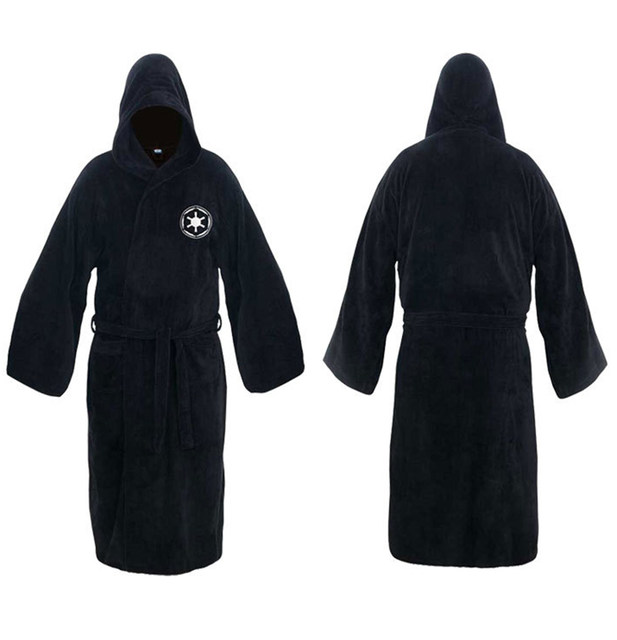 Online Shop Flannel Robe Male With Hooded Star Wars Dressing Gown ...