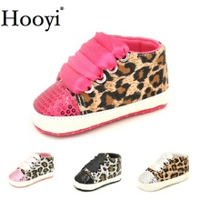 Fashion Leopard font b Baby b font Girl Shoes Newborn First Walkers Sequins Bling Anti Slip
