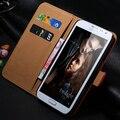 Luxo retro genuine caso de couro real para galaxy note2 ii n7100 estande carteira aleta do vintage acessórios sacos para samsung note 2