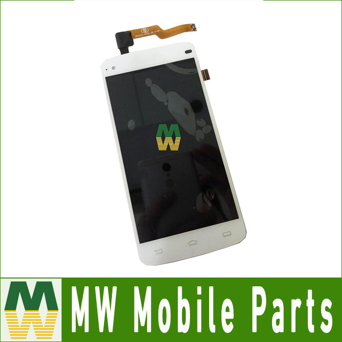 High Quality For Philips i908 LCD Screen And Touch screen Assembly White color Free Shipping