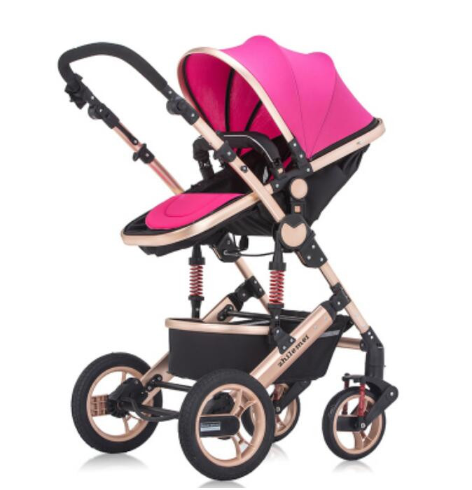 New Product High Landscape Baby Stroller Can Sit Lying Portable Baby Car Folding Easy Prams for Newborns Shockproof Stroller jay ahr платье из вискозы и шелка