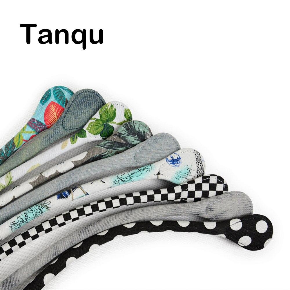 TANQU Curto Longo Rodada Tecido de Lona Punho para O Saco Obag Mini Clássico Sacos de Ombro Bolsa das Mulheres
