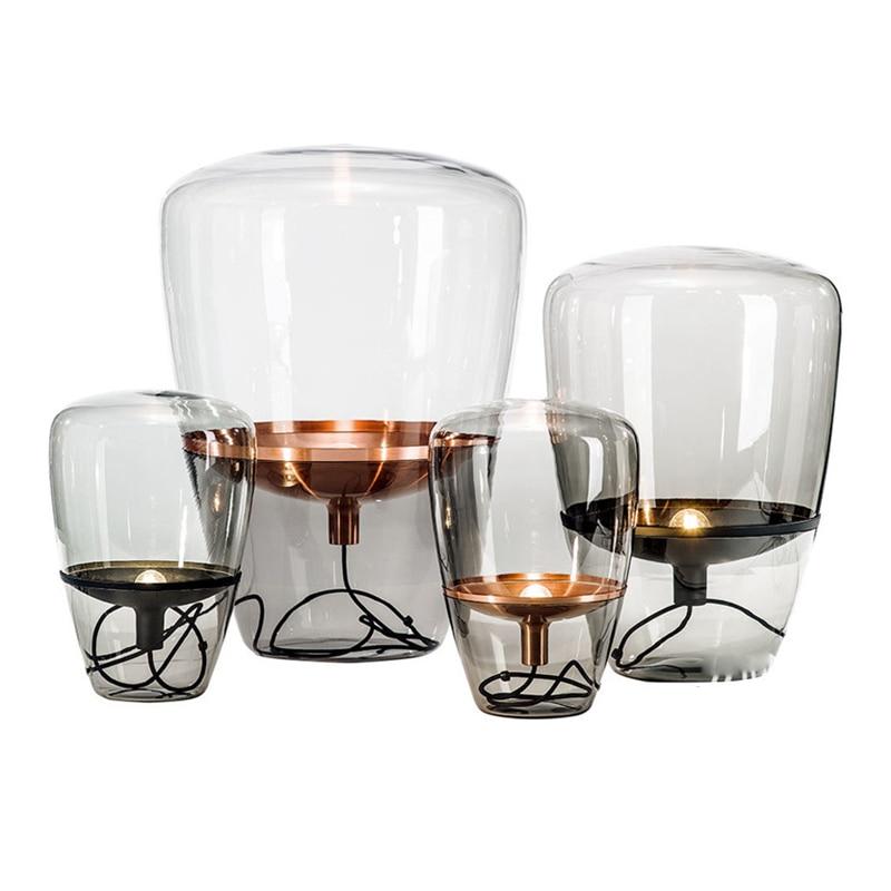 Nordic Стиль Стекло торшер огни модные Дизайн Стекло настольные лампы светильники для Гостиная загородный дом бар отеля спальня