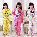 Los niños Pijamas ropa de Noche de Primavera Otoño de la Historieta Outman Muchachos de Las Muchachas Pijamas Pijamas Sistemas de los Cabritos 3-13 T Niños Ropa de Dormir/Homewear