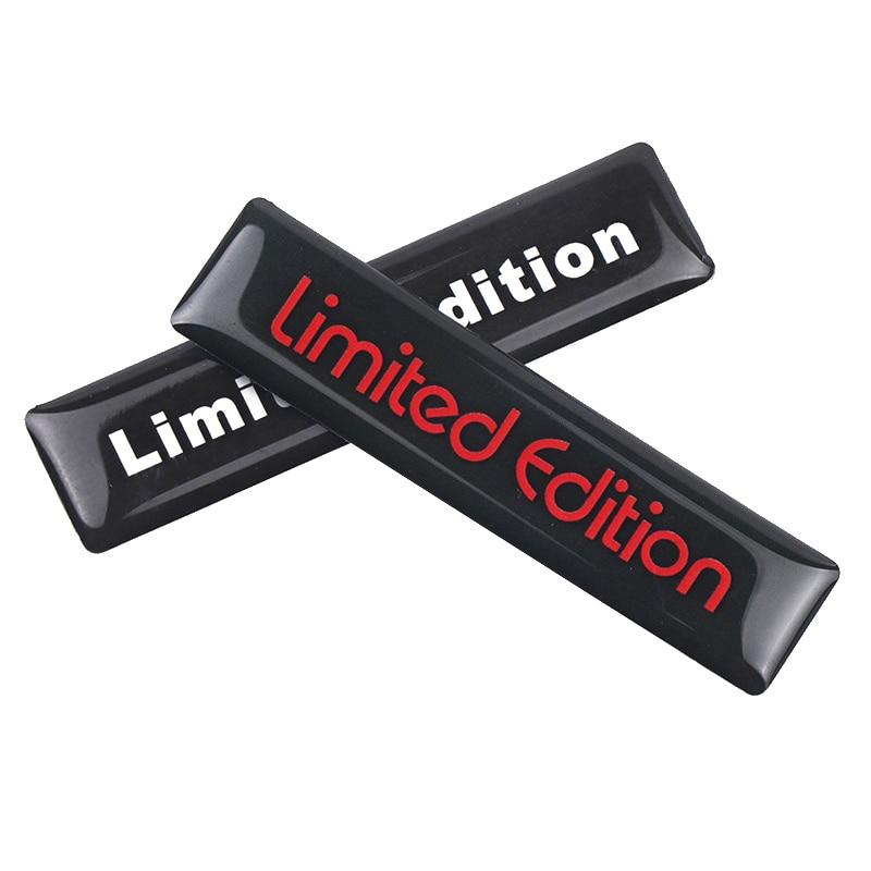 2 pçs 3d preto edição limitada decoração adesivo universal carro auto corpo emblema emblema adesivo decalque chrome emblema estilo do carro