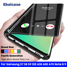 For Samsung Galaxy S10 Plus Case Smart Mirror Flip Shockproof Cover For Samsung S10 S9 S8 S7 Plus Edge A30 A50 A70 Note 9 8 Case(China)